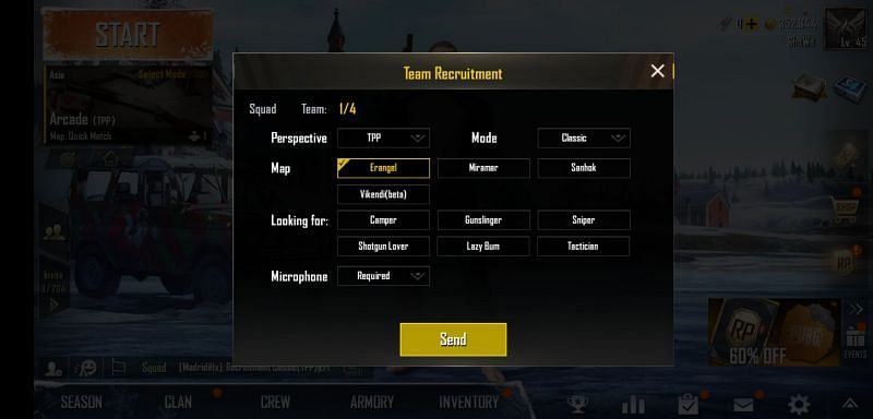 PUBG Mobile Team Recruitment
