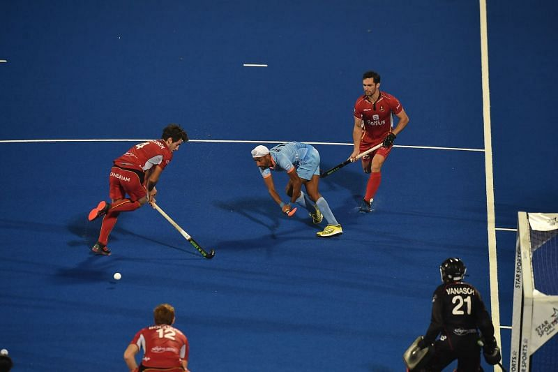 Belgium attack India from the first whistle