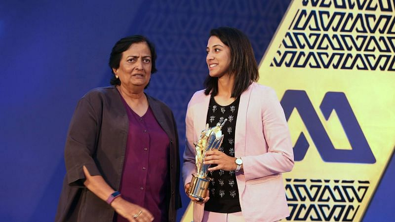 Smriti Mandhana was named the BCCI's Best International Women's Cricketer for the year 2017-18
