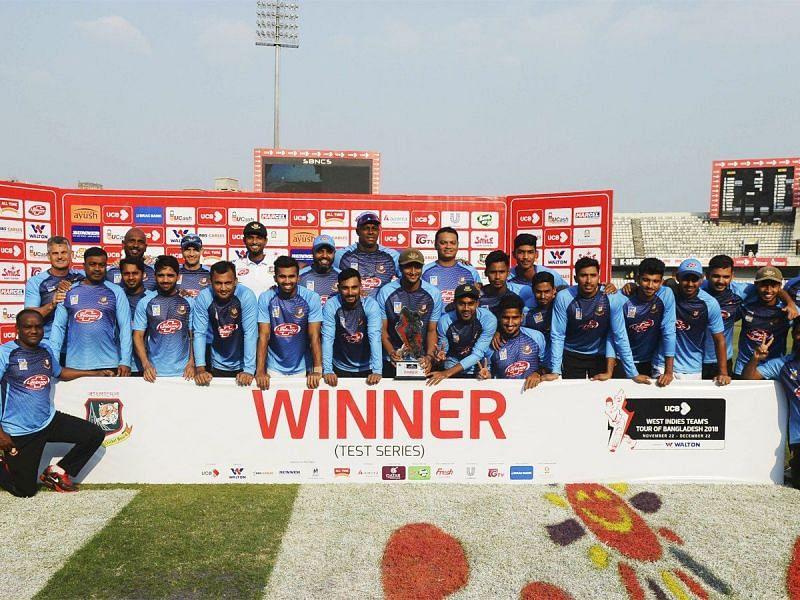 Test series won