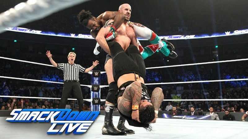 Cesaro showed why he is known as The Swiss Cyborg