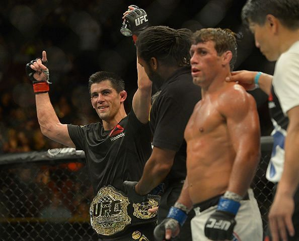 Dominick Cruz (first from left<p>