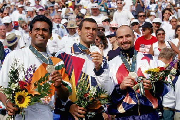 Leander Paes - the only Indian tennis player to win a medal at the Olympic Games
