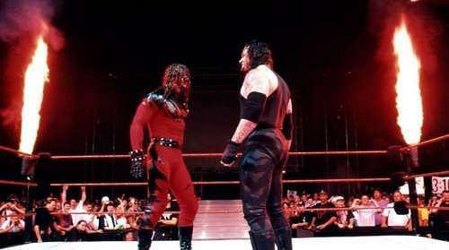 Undertaker and Kane Face off
