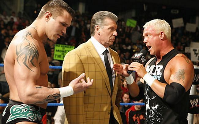 Orton, Vince McMahon and Kennedy on an episode of WWE SmackDown.