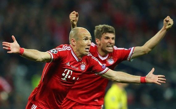 Arjen Robben scored a late winner to clinch the Champions League for Bayern Munich in 2013