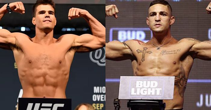 Gall (left) will step into the Octagon against a legend in Diego Sanchez