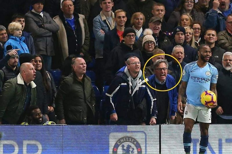 Sterling remains calm as fans hurl abuses at him