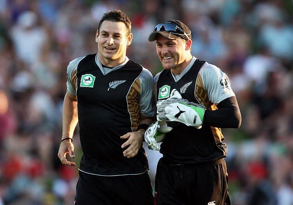 Nathan McCullum (left) found himself in an unwanted rumour today