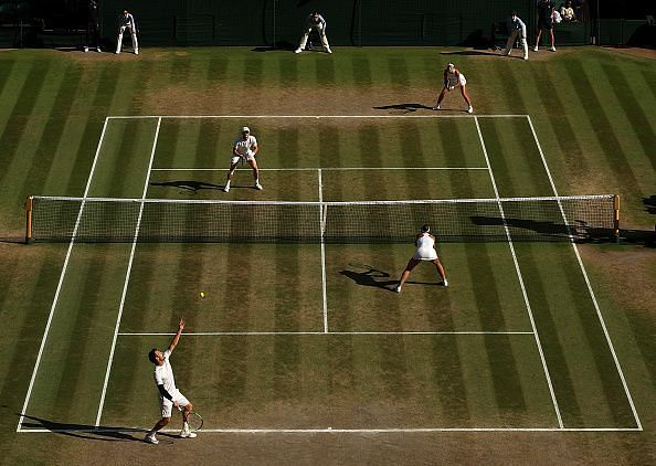 The final day of the championship shows how much the green grass courts can change over 2 weeks
