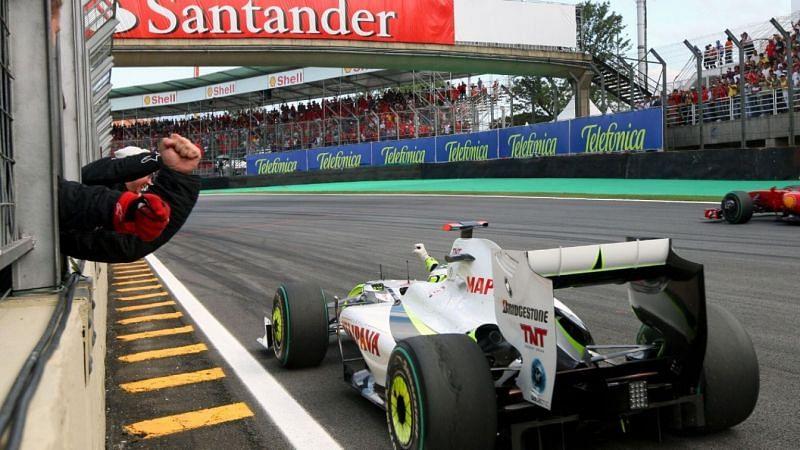Jenson Button wins the driver