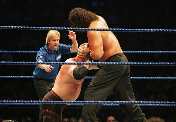 The Great Khali even made light work of fellow monsters such as Kane.