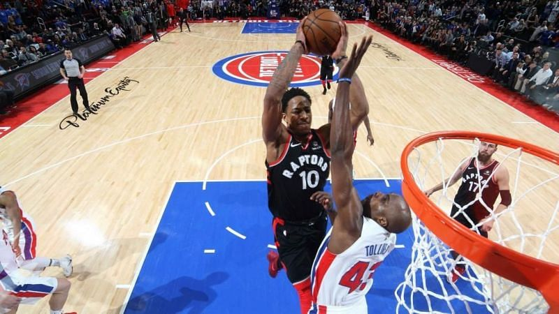 DeRozan scored 42 points and the Raptors picked up a two pointwin. Credit: NBA