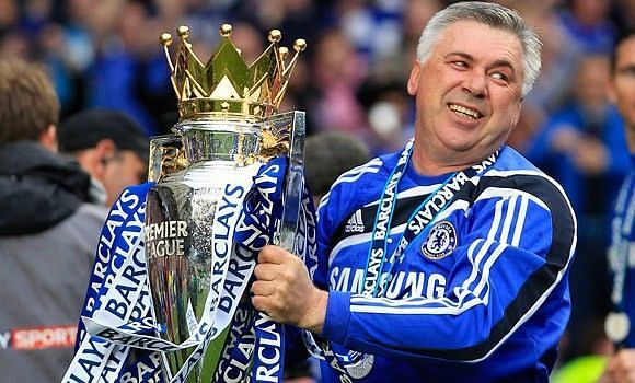 Carlo Ancelotti won Premier League and F.A Cup in his maiden year