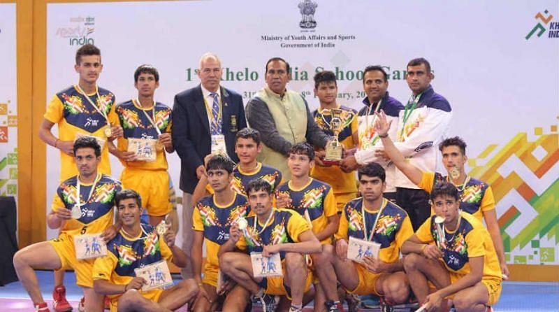Delhi U-17 Boys Team (Gold Medalists of Khelo India Youth Games 2019)