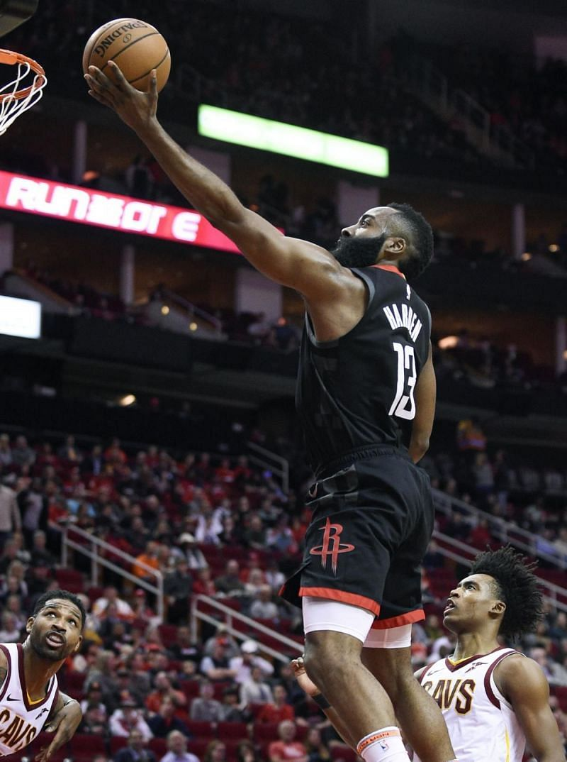 James Harden is leading the league in points-per-game this season.