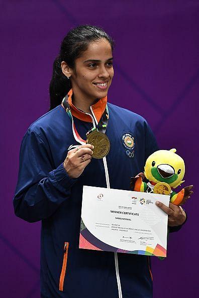Saina Nehwal after winning a bronze medal at 2018 Asian Games