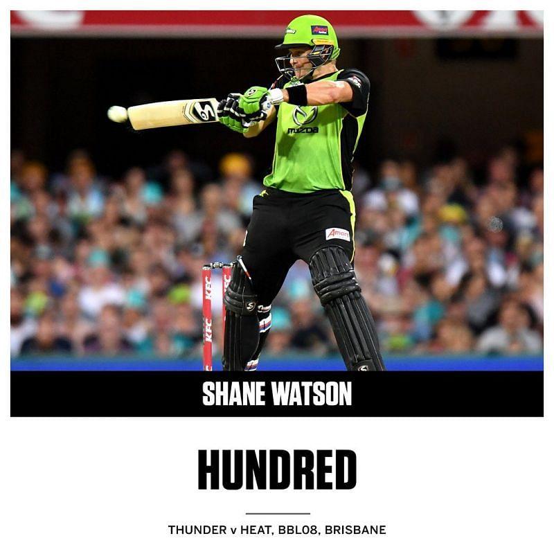 shane watson hundred