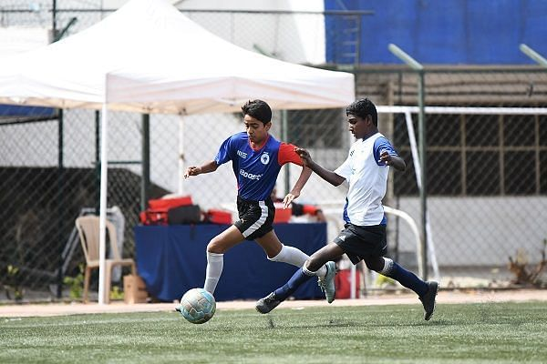 Action from Day 6 of the Boost BFC Inter-School Soccer Shield
