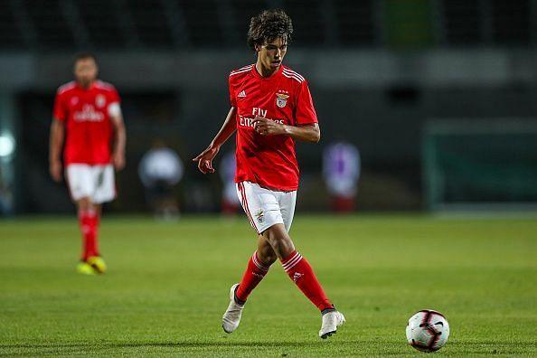 Felix in action for Benfica