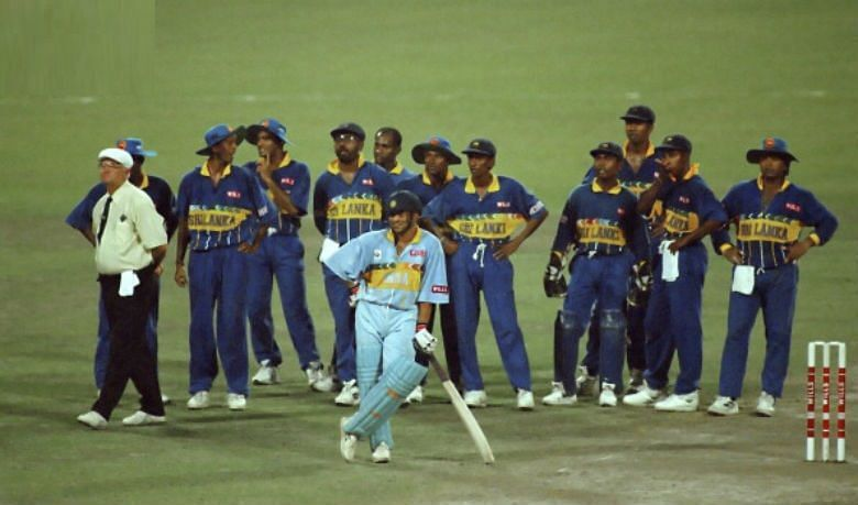 India Vs Sri Lanka Semi Final 1996 Pic credits: Cricket History