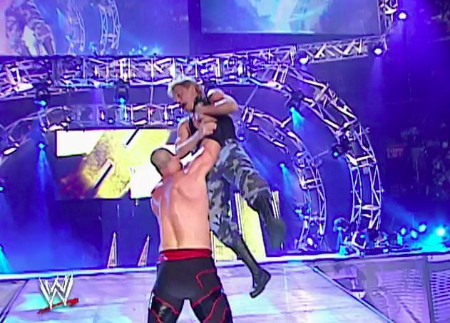 Spike Dudley fell foul of Kane during his entrance to the 2004 Royal Rumble