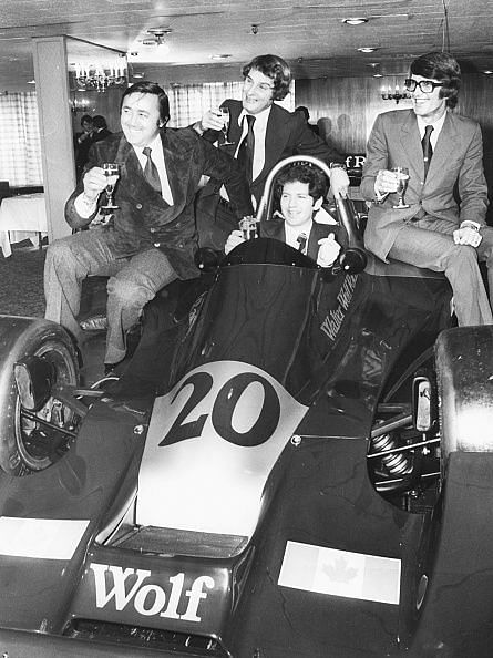 Future World Champion, Scheckter (seated, centre) stunned the F1 world on Wolf