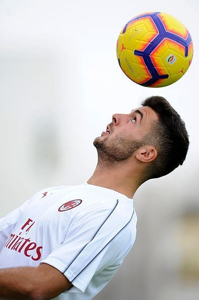 Cutrone Training Session for the Italian Supercup