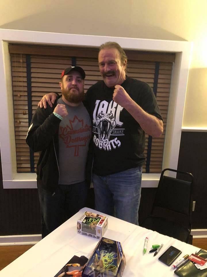 Myself and WWE Hall of Famer Jake