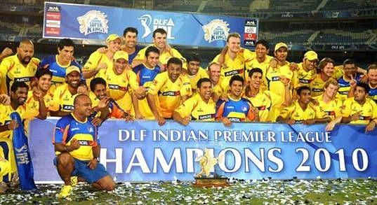 CSK lifted the title in 2010