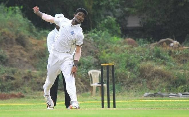 KV Sasikanth took 6 wickets in the second innings