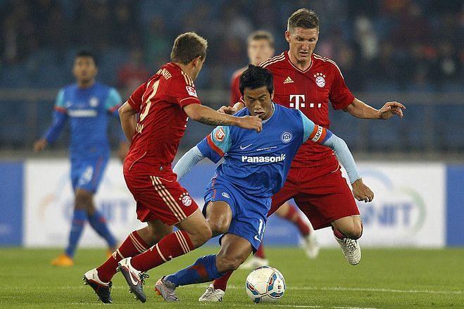 Bayern Munich played India at the JLN Stadium, New Delhi