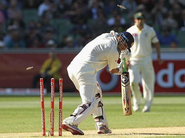 Image result for rahul dravid bowled in test cricket