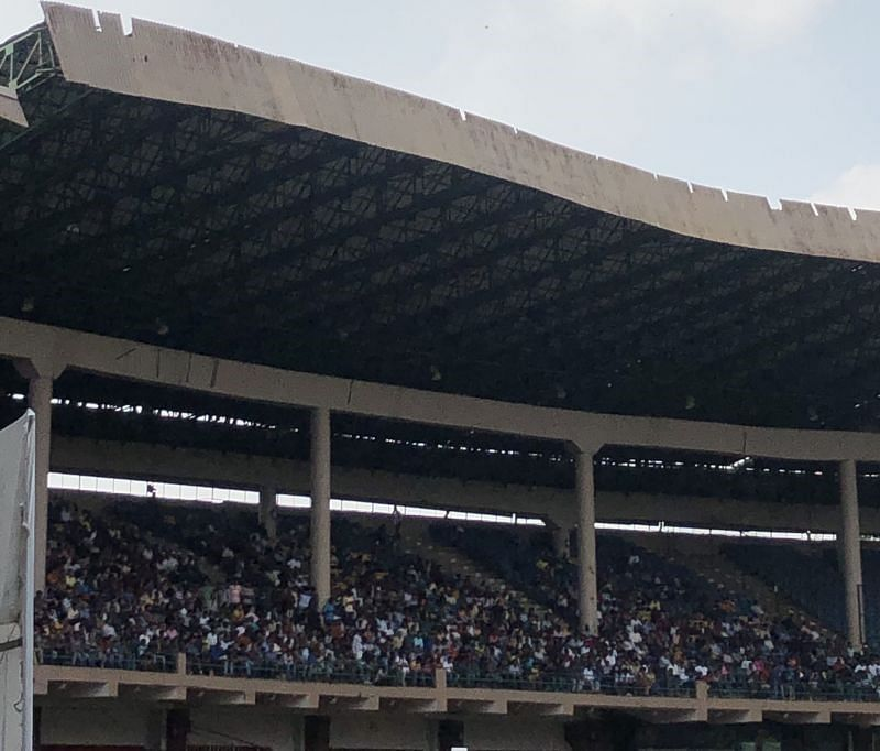 The stand which had free entry for the cricket lovers