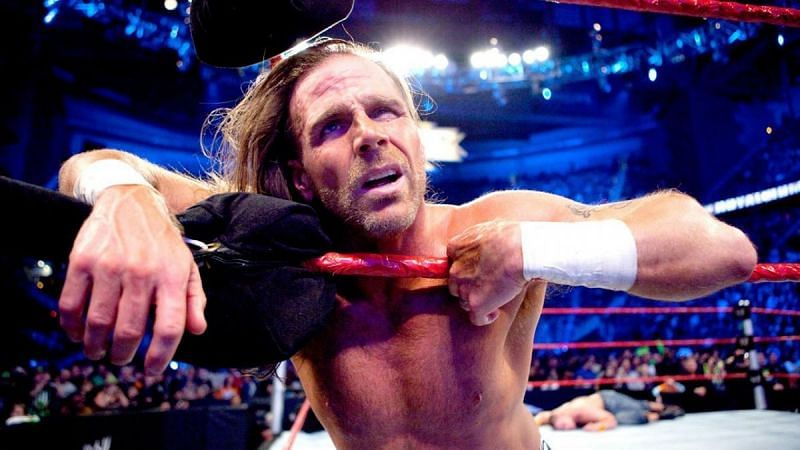 Shawn Michaels in pain during the 2010 Royal Rumble