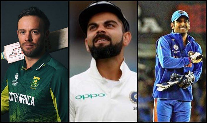 MS Dhoni, AB de Villiers and Virat Kohli, all three feature on this list