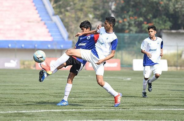 Action from Day 8 of the Boost BFC Inter-School Soccer Shield
