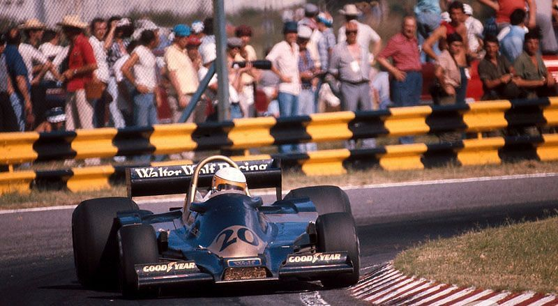 Jody Scheckter on his way to Wolf