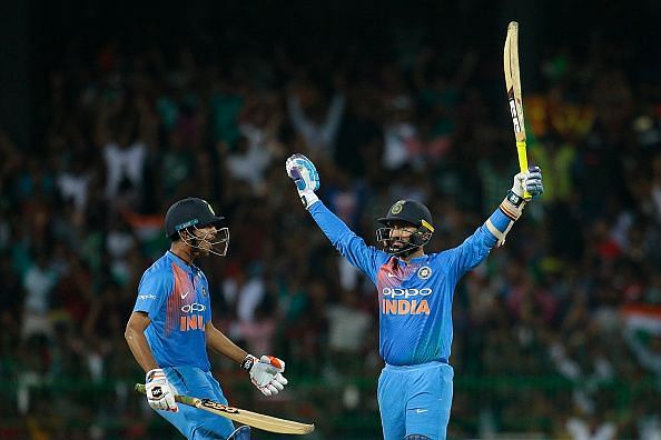Dinesh Karthik produced a knock for the a