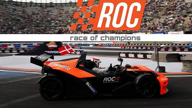 Tom Kristensen whizzing past the finish line to win the ROC Nations Cup