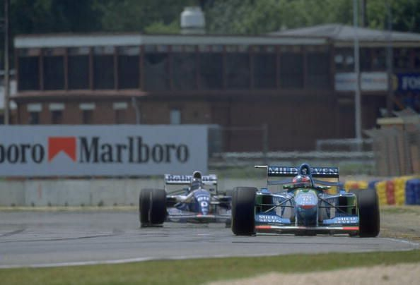Michael Schumacher and Damon Hill