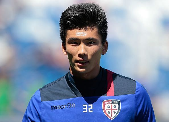 Kwang-song Han who plays for Cagliari Calcio - Serie A