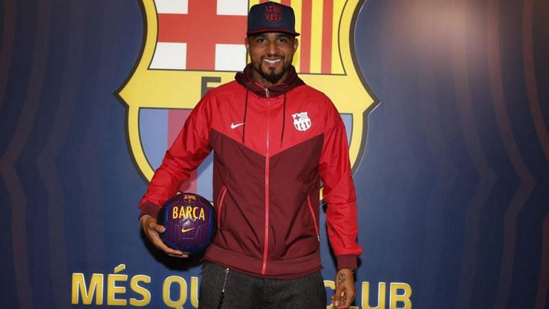 Kevin-Prince Boateng arrived at Barcelona in one of football
