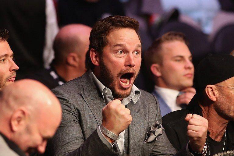 Chris Pratt's first UFC event live was UFC 227
