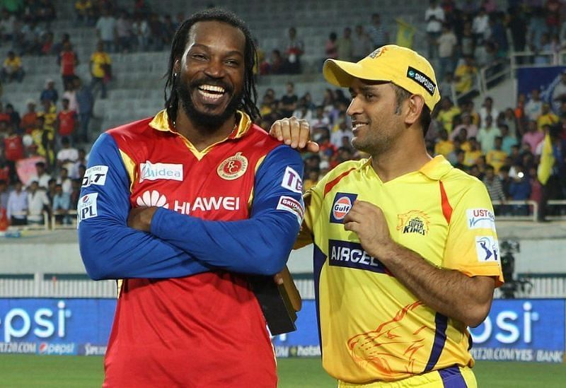 Chris Gayle and MS Dhoni