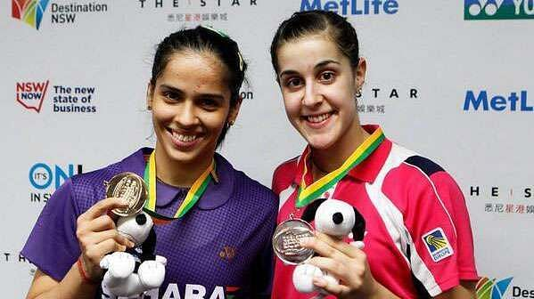 Nehwal (left with Marin