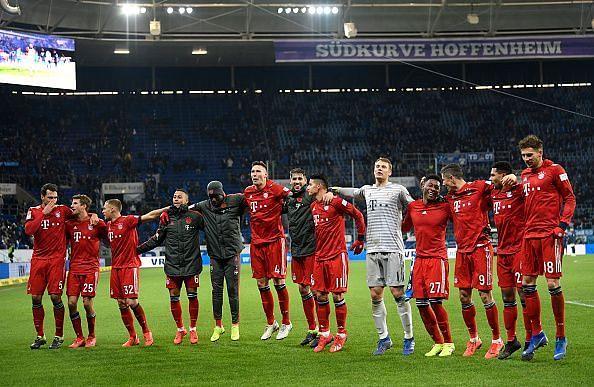 The Bavarians produced a dominating display at the Rhein-Neckar-Arena