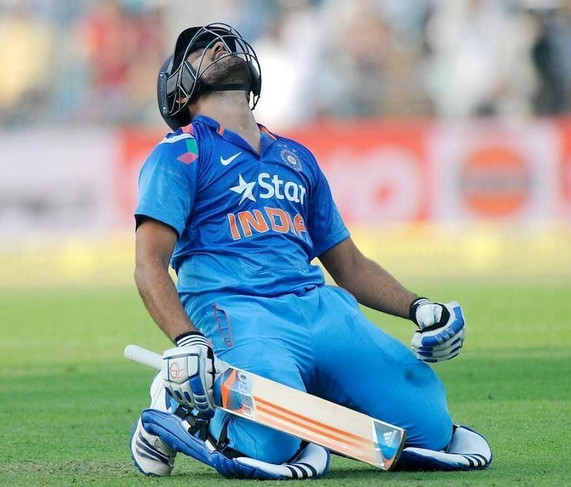 Rohit Sharma was dropped early on way to his record-breaking 264