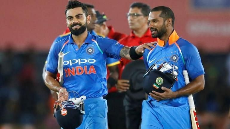 Dhawan and kohli Put great patnership