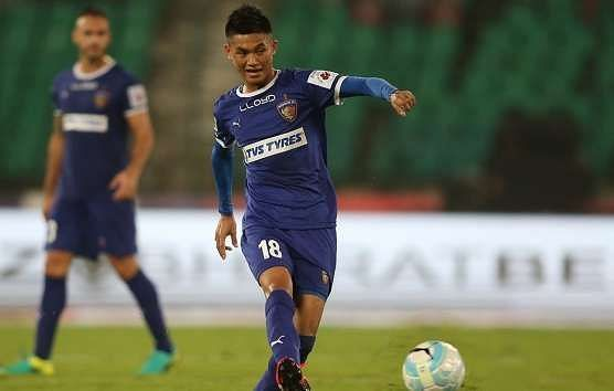 Hanghal in action during his spell with Chennaiyin FC in the 2016 ISL